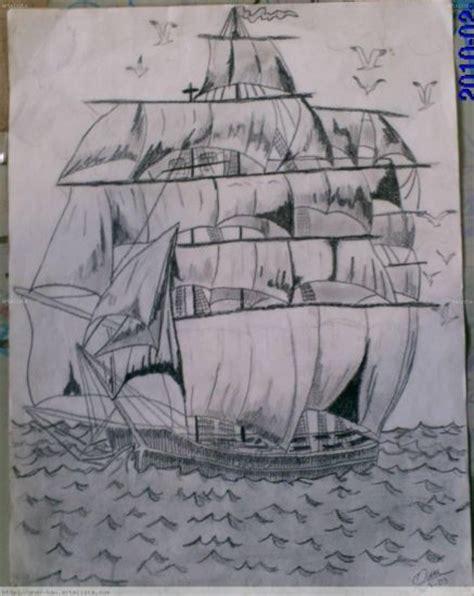 barco pirata dibujo a lapiz barco pirata omar bautista artelista