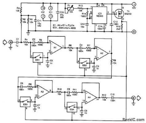 switched capacitor bandpass filter design index 6 filter circuit basic circuit circuit diagram seekic