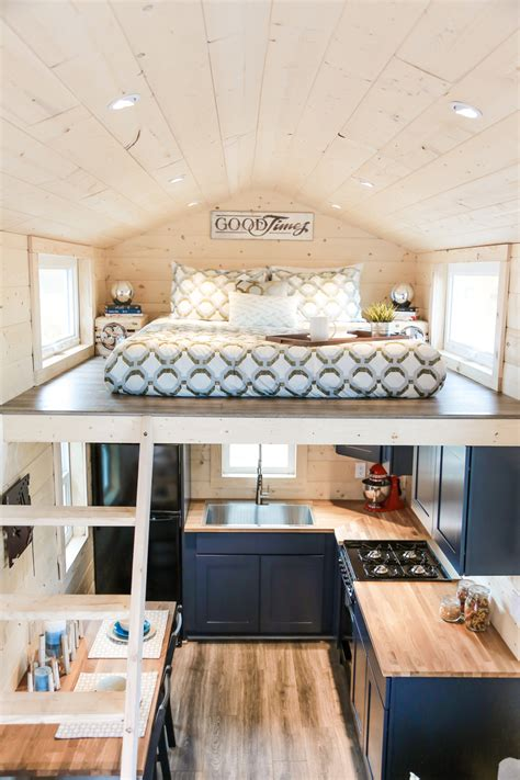 tiny dream home  wheels   sleeping lofts