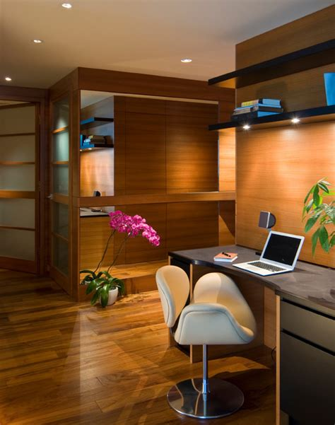 materials library and studio contemporary home office high rise condo modern home office library san