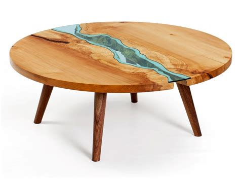 wood table table topography wood furniture embedded with glass