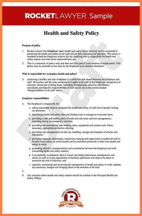 5 occupational health and safety report template