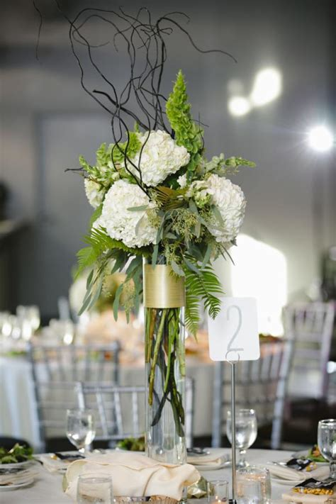 Center Wedding Flowers by Flower Fall Wedding Centerpieces Fern