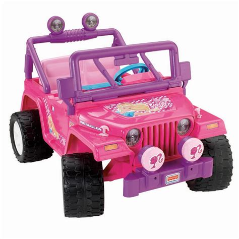barbie jeep power wheels barbie jammin jeep wrangler pink parts