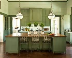 Green Kitchen Cabinets Painted by Green Cabinets Cottage Kitchen Sherwin Williams