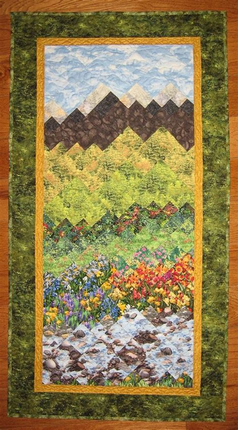 Mountain Landscape Quilt Fabric 1000 Ideas About Fabric Wall Hangings On Wall