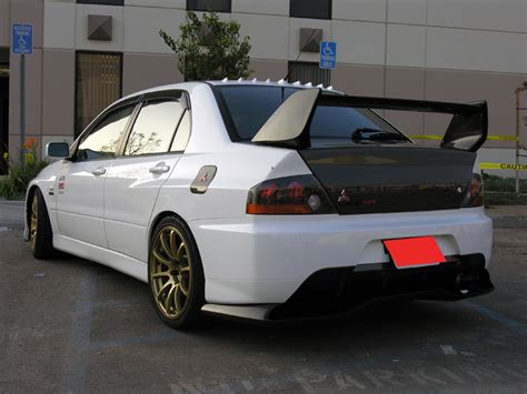 evo spoiler evo9 with deffuser fully cf spoiler 1piece