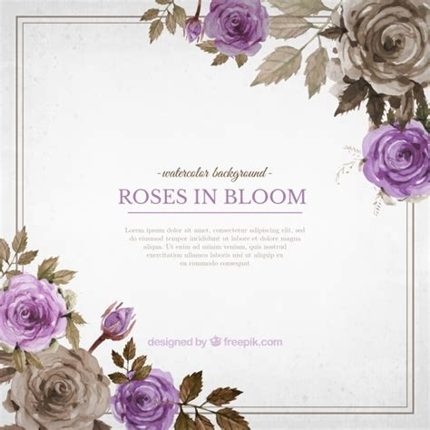 fondo de flores vintage fondo de flores rosa bonitas de acuarela 23 2147539568 jpg