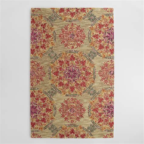 Coral Area Rug Coral Medallion Tufted Wool Julianna Area Rug World Market