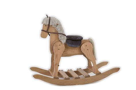 Amish Kitchen Furniture Large Rocking Horse Peaceful Valley Amish Furniture