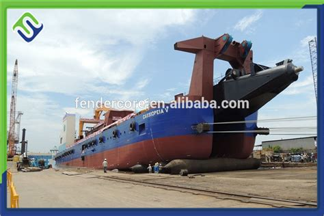boat salvage airbags marine inflatable rubber airbag boat salvage pontoons