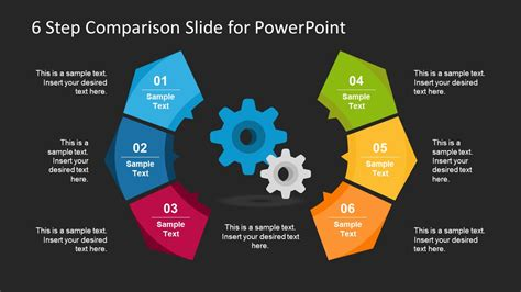 Free 6 Step Comparison Slide For Powerpoint Slidemodel Best Presentation For Compare And Contrast Powerpoint Templates