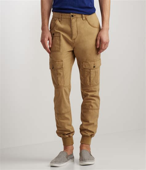 Jogger Brown Ribs a 233 ropostale solid cargo jogger in brown for lyst