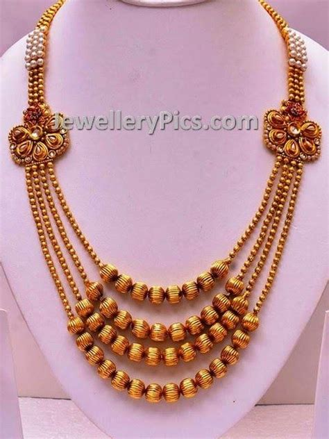 gold mala pattern chandraharam gundla mala pinterest style and patterns