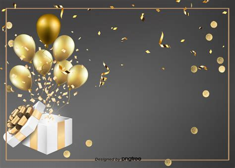 black simple birthday background coloured ribbon balloon birthday background image