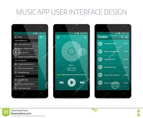 home design app usernames modern user interface design vector illustration