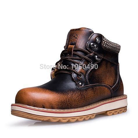 Genuine Leather Lace Up Snow Boots 2014 winter sneakers new stylish mens snow boots genuine