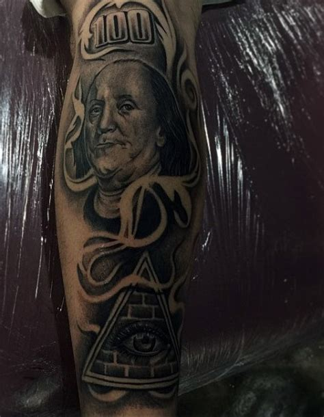 benjamin franklin tattoo 50 money tattoos for wealth of masculine design ideas