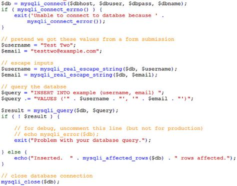 Insert Into Table Mysql by Using Mysqli To Insert To Mysql Database Learn Web Tutorials