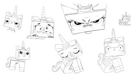 princess unikitty coloring pages lego the many faces of unikitty by rmsaun98722 on deviantart