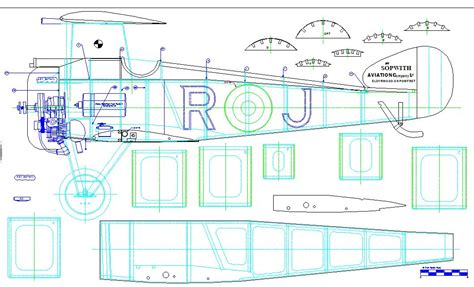 create a blueprint free model aircraft 187 archive workshop build along