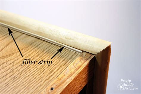 filler strip between cabinets how to make a shoe storage bench out of a habitat restore