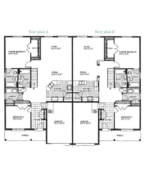 semi detached floor plans modern semi detached house plans modern house