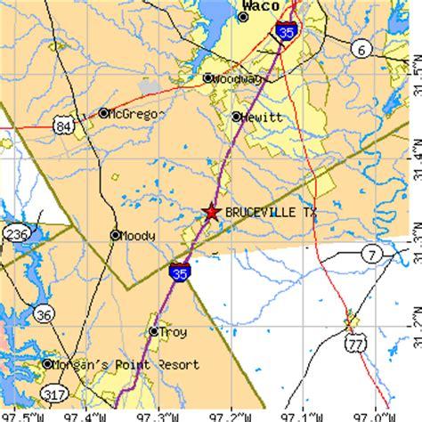 eddy texas map bruceville texas tx population data races housing economy