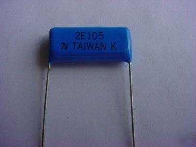 capacitor 1 mfd 1 mfd 250 volt capacitor qty 100 ea