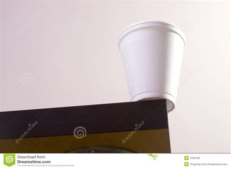 cup on table edge stock photography image 1340122