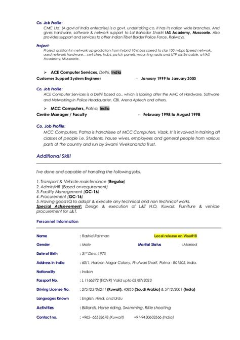 cover letter biodata template download free sle of