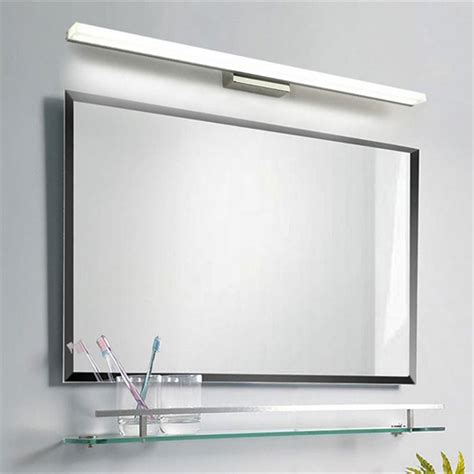 acrylic bathroom mirror l39cm l49cm l59cm l69cm l89cm led mirror light stainless steel base acrylic mask bathroom vanity