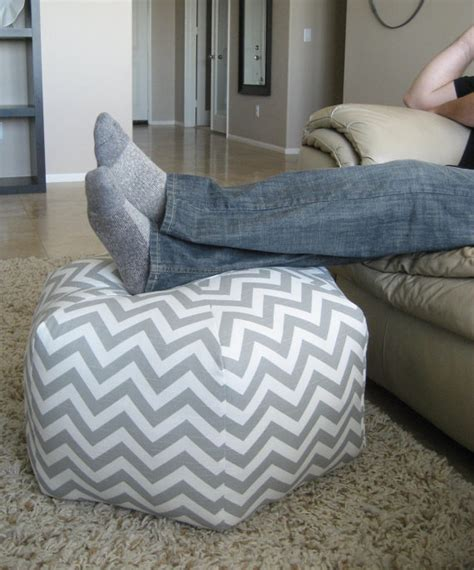 Etsy Pouf Ottoman 24 Pouf Ottoman Floor Pillow Grey White Zig Zag By Aletafae