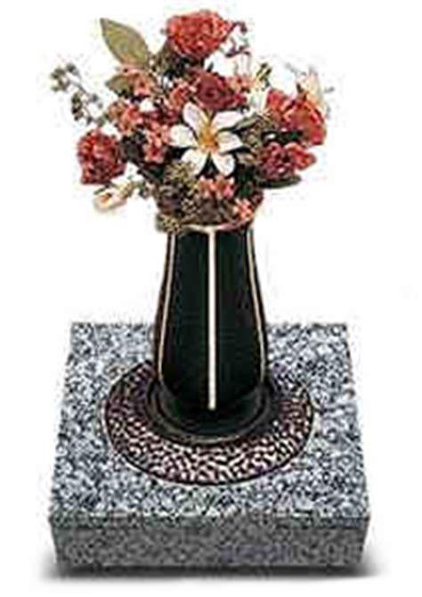 Graveside Vases by Cemetery Flower Vases Granite Flower Vases Graveside
