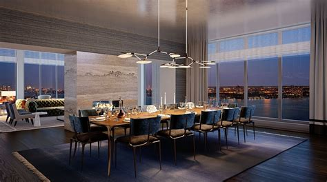 Modern Dining Room Sets Miami by Luxury Waterfront Condominium With Expansive Views Of Nyc