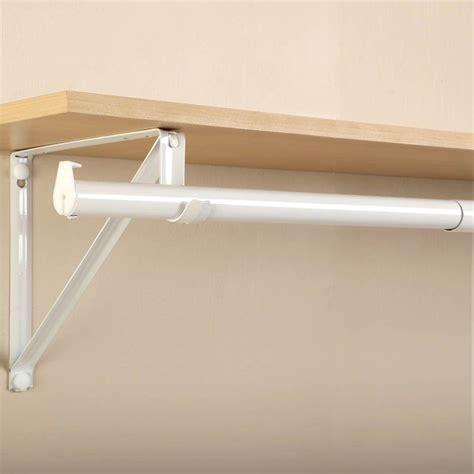 closet rod closet pro 48 in 72 in white adjustable closet rod rp0021 48 72 the home depot