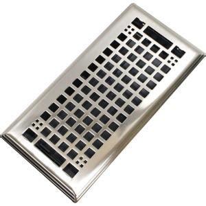 Brushed Nickel Bathroom Vent Cover Modern Homes Egg Crate 4 In X 10 In Steel Floor Register