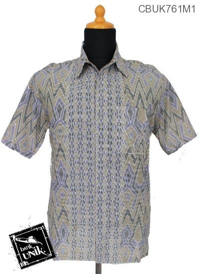 Kemeja Garis 1 baju batik kemeja katun motif tenja garis kemeja pendek murah batikunik