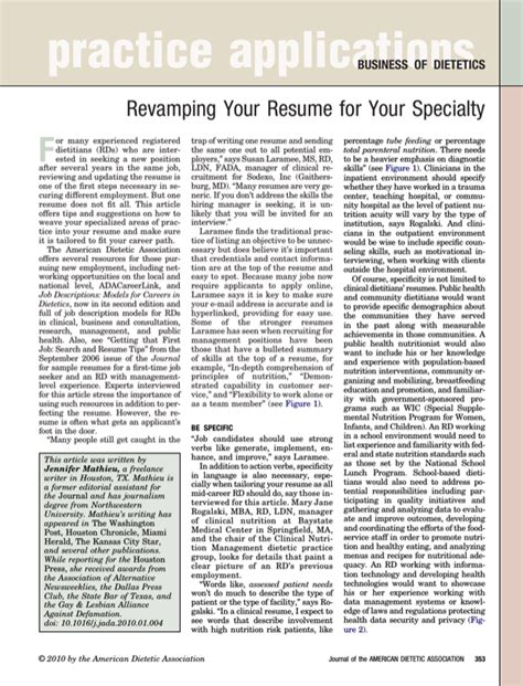 Resume Entry Level Dietitian entry level dietitian resume for free formtemplate