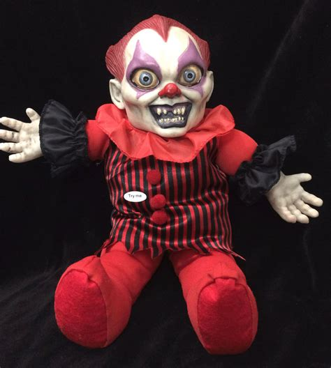haunted killer doll horror talking creepy killer clown doll scary haunted