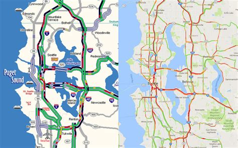 seattle map traffic weather snarls traffic throughout seattle area the