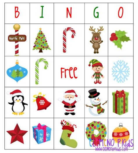 printable christmas bingo game cards holiday bingo games elemeno p kids