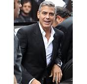 The Silver Fox Looked His Usual Suave Self In Trademark Dark Suit