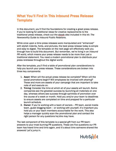 crisis press release template inbound press release templates