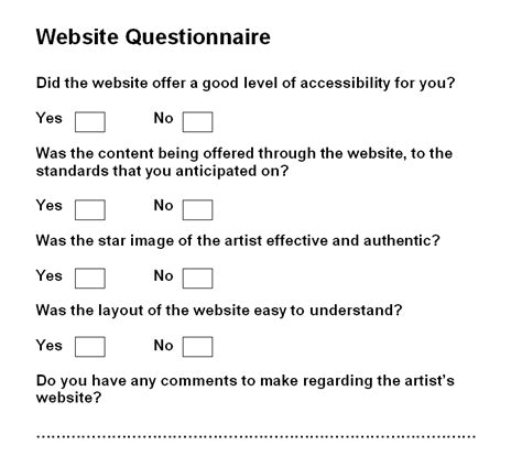 website templates for questionnaires klmusicvideo coursework by kristian lee
