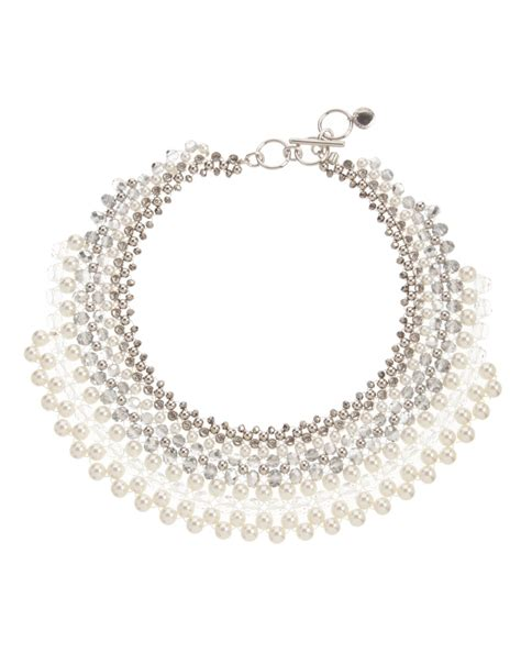 Collar Medley connection woven pearl bead collar the fashion
