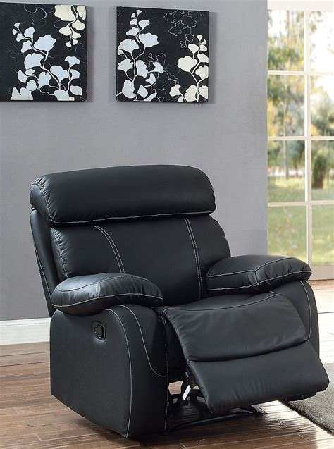 black reclining chair pendu black reclining chair from homelegance coleman
