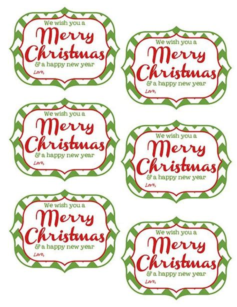 printable tags     merry christmas   happy  year christmas gift tags