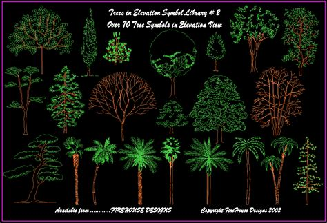 tree templates for autocad cad tree elevation homedesignpictures