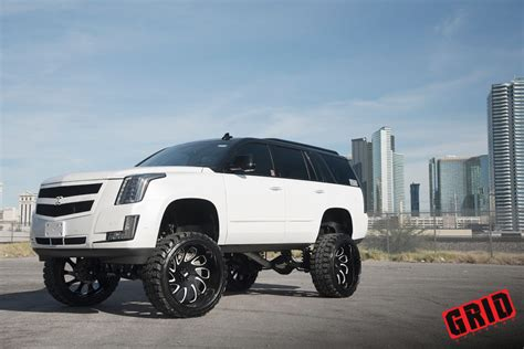 cadillac escalade 2017 lifted grid off road cadillac escalade grid off road gf10 wheels